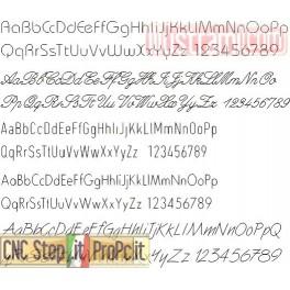 17 fonts monolinea professionali per CAD CAM CNC