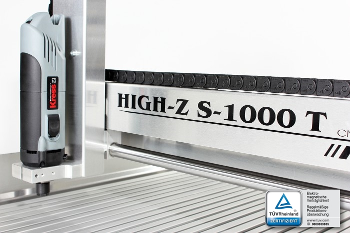 Pantografo fresatrice CNC High-Z con elettromandrino Kress